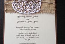 Invitatii h / Invitatii de nunta handmade