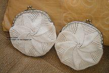 Bolsas / Porta moedas em crochet