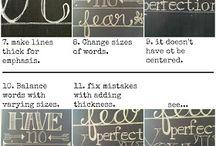 Letter & art in chalk