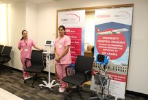 "UHS participates in ""Health Day"" event for Air Arabia / University Hospital Sharjah was invited to participate in the ""Health Awareness Day"" event of Air Arabia. The event aimed to increase happiness and boost the morale, productivity and effectiveness of the employees. As part of the awareness drive, UHS offered a wide array of free medical tests and health screening programs including Cholesterol, Blood Glucose, Blood Pressure, Body Mass Index (BMI) and much more."
