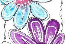 Цветы-каракули