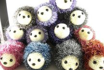 Crochet hedgehogs