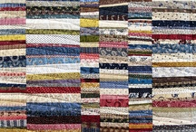 Tie one on. / Variations on coin quilts made from upcycled neckties.