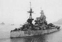 Royal Navy Warships Post WW1 Through to WW2