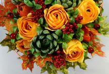 Бумажные цветы с конфетами