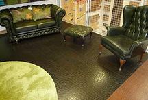 Leather flooring
