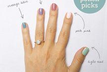Arte en uñas. / esmaltes.