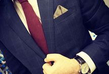Mr. Jenks' Squares Styled / Our Pocket Squares worn in different ways by dapper gentlemen