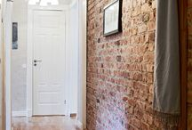 Red brick interiors