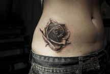 Tattoos and piercings / I love tattoo's, and I definitively prefer the realistic style, together with 3Dish and watercolor-tattoo.