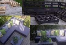 Clever makes with pallets / Ideas for things to Make with pallets / by Katie Ingram
