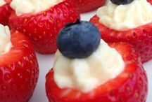 Dessert / Enkel jordgubbscheesecake