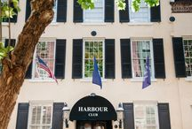 Harbour Club Weddings / Nestled in the heart of downtown Charleston across from picturesque Waterfront Park is one of Charleston's most exclusive and premier social clubs, the Harbour Club. The Club features several exciting options for the ideal reception, including the Prioleau Ballroom and the Rooftop Terrace.