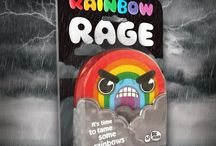 Rainbow Rage - A fun party card board game / Rainbow Rage is a fun party card board game which will really grind your gears! A charmingly infuriating spot-the-difference game. Be the first player to grab the colours that swapped places and build your very own rainbow to victory. Great as a travel game, a birthday gift or present for someone at Christmas!