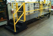 Industrial Platforms - LTW Ergonomic Solutions / Most of our products center around adjusting the work height to the operator, but for large assembly lines and machinery that is not feasible.  LTW has answered this dilemma by introducing our line of Ergonomic Operator Platforms!