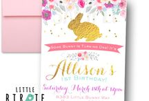 Some Bunny Is turning ONE Bunny Birthday Party Ideas