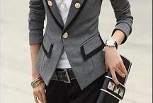 Grey blazer outfits