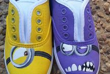 Fabric painting shoes