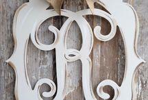 Monogram Wood Signs