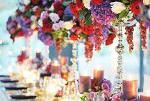 wedding purple red