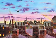 Mary Poppins inspired paintings