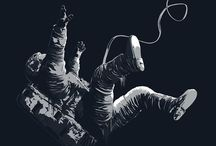 Astronaut illustrations