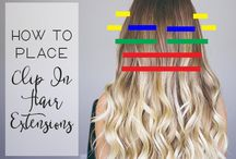 Hair Extensions / Hair extensions can be installed by several different techniques... clips in, sew in, microlinks, infusions, tape and bonding glue. Some techniques are more damaging than others however all can be damaging with improper care
