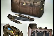 Range Bags! / South American Cowhide Leather Range Bag - Lightweight, Easy to Carry, Serious Organization!