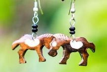 Nyora Beads Earrings / All of our products are fair trade and handmade in the slums of Kenya. Every dollar you spend goes directly into scholarship funds to send kids there to school. Learn more at www.nyorabeads.org!