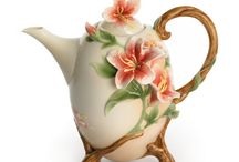 New and different kinds of Tea Pots and dishes
