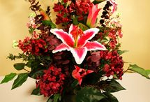 clean artificial flowers