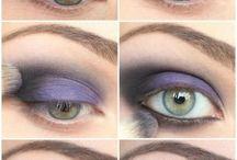 ojos en tonos lilas