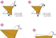 птицы оригами
