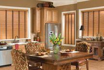 Window Treatments: Wood Blinds