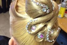 hair for ballroom competitions