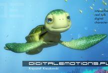 Mały Przyjaciel Błękitka / interaktywna, animowana postać żółwia