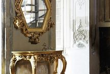 Gold and silver furniture