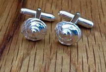 Solid Silver Cufflinks / Handmade Solid Silver Cufflinks.