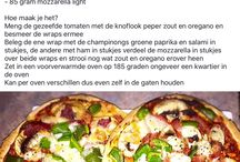 pizza, quiche en wraps