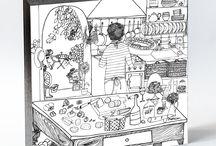 A COZINHA DA PROVENCE / A Provence é uma região muito rica em frutos da terra e do mar de seu belo litoral. Ensolarada, de clima quente e seco, possui uma personalidade que se reflete na produção de seus vinhos e no estilo de vida de seu povo - alegre e descontraído. O bayaldi é uma receita típica provençal, assim como o ratatouille – os dois são cozidos de legumes com tomates e ervas - e A Cozinha Secreta traz a receita assinada pelo chef francês Julien Mercier para colorir no cuadrado.
