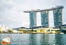 เที่ยวสิงคโปร์ มารีน่า เบย์ แซนด์ (Marina Bay Sands) ยอดตึกมีลักษณะคล้ายกับเรือ