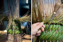 трава плетение