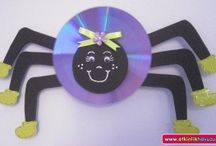 Spider craft idea / This page has a lot of free Spider craft idea for kids,parents,preschool teachers.