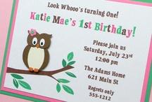 Owl themed birthdays