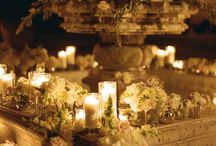 Candle Scenes / WEDDING: Beautiful candle displays and arrangements.