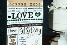 Coffee House/Library Theme / ideas for coffee, coffeehouse, library themed wedding reception