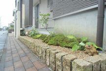 玄関のお庭