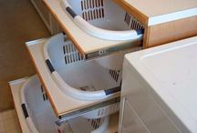 storage solutions / ideas to optimize the space and help to clean things of our day to day