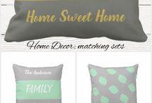Home decor: throw pillows and cushion sets