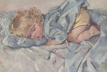Vintage baby and children